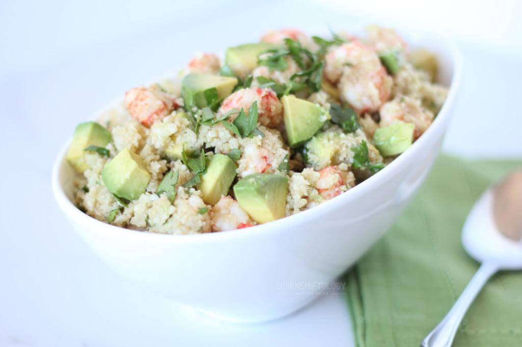 Asian Cauliflower Rice with Ginger Shrimp | www.downshiftology.com