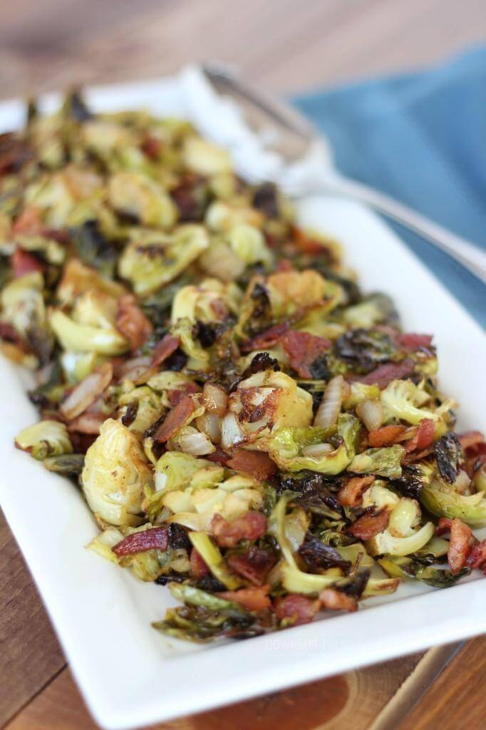 Balsamic Bacon Brussel Sprouts | www.downshiftology.com
