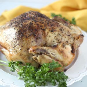 (gluten-free, paleo) Slow Cooker Rotisserie Chicken. An easy and delicious chicken recipe for your slow cooker or crock pot.