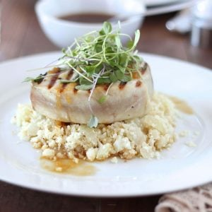 Grilled Albacore with Citrus Ginger Sauce | www.downshiftology.com