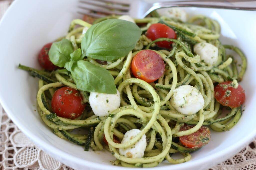 This zucchini noodle caprese is made from my favorite gluten-free pasta alternative, zucchini noodles, and inspired by one of my all time favorite salad, caprese.