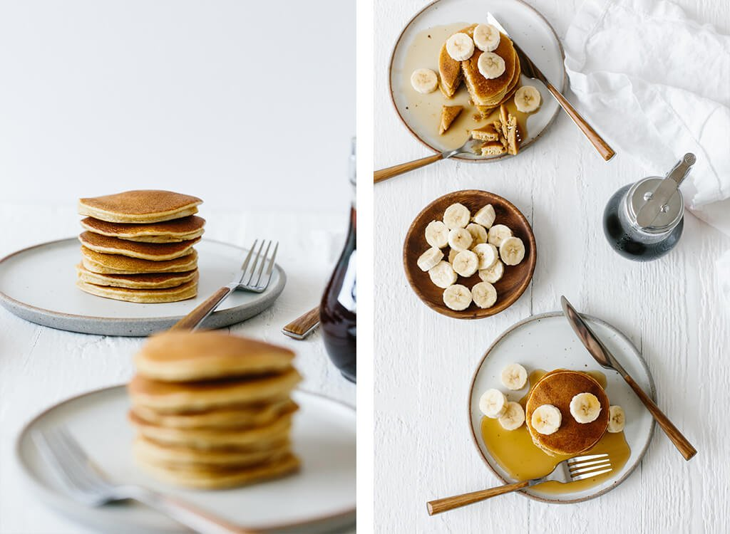 These paleo pancakes are light and fluffy and made from a combination of coconut flour, tapioca flour and almond flour. They're a reader favorite and the best paleo pancakes out there!