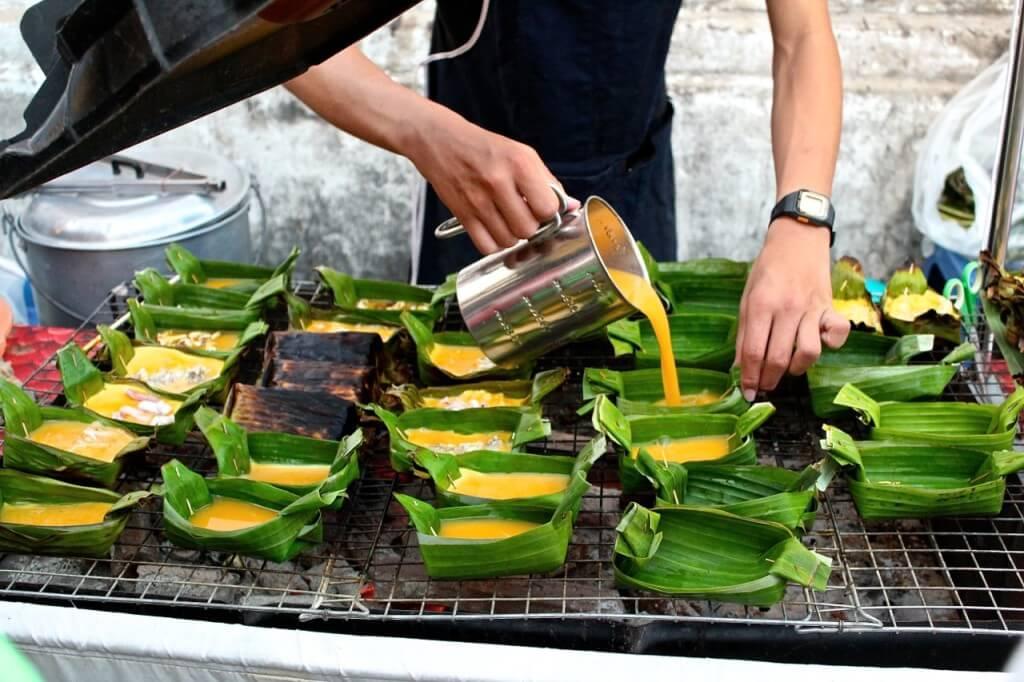 Thailand street food eggs