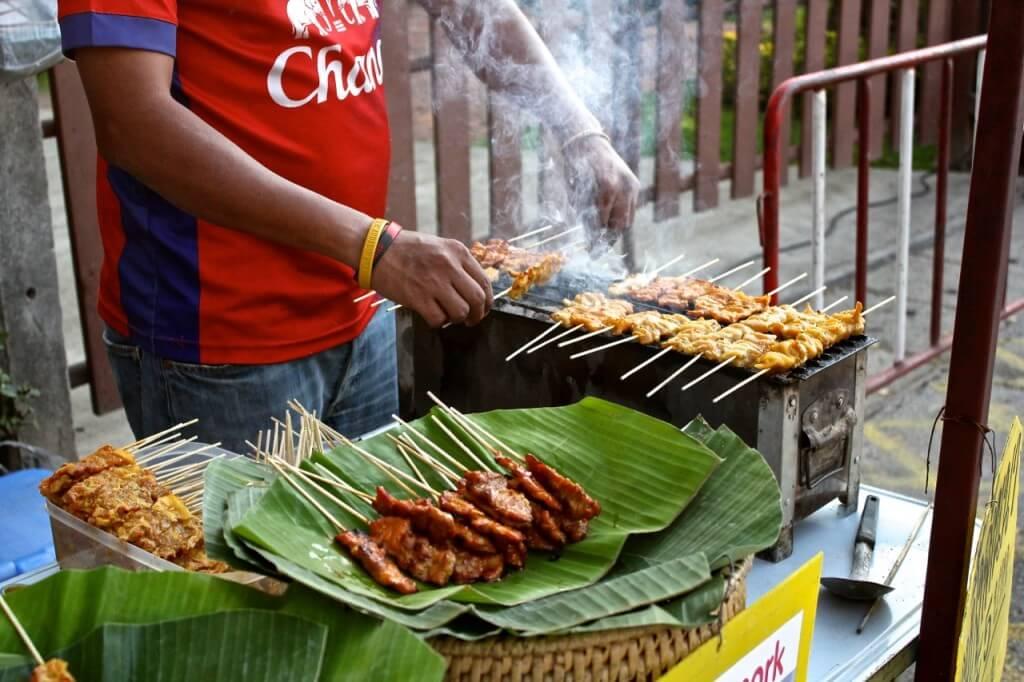 Thailand street food meat