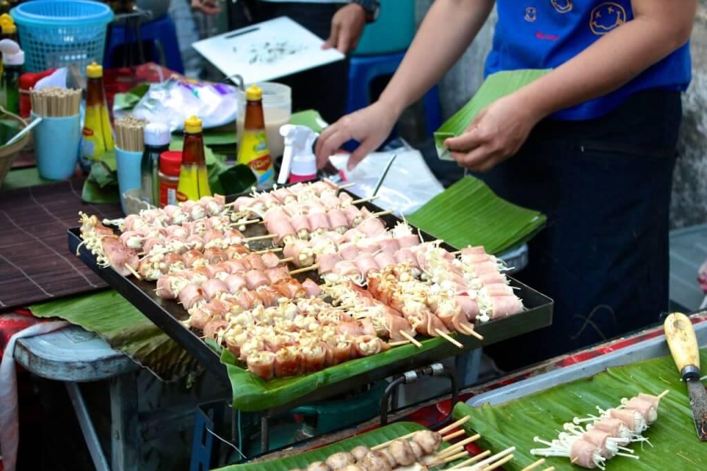 Thailand street food mushrooms