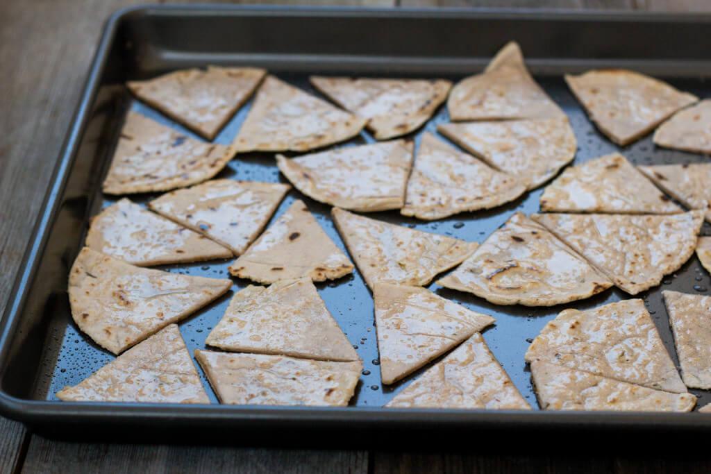 herbed cassava tortilla chips