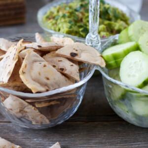 (gluten-free, paleo) Herbed Cassava Tortilla Chips