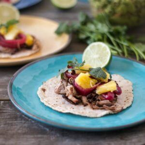(gluten-free, paleo) Pulled Pork Street Tacos on Cassava Flour Tortillas