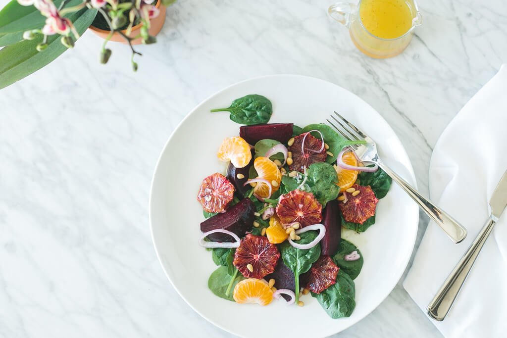 Roasted Beet And Blood Orange Salad With Spicy Greens Recipe ...