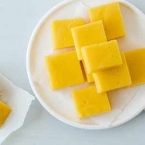 (paleo) Orange Mango Gelatin Gummies - loaded with healthy gelatin, these gummies are a great kid-friendly snack.