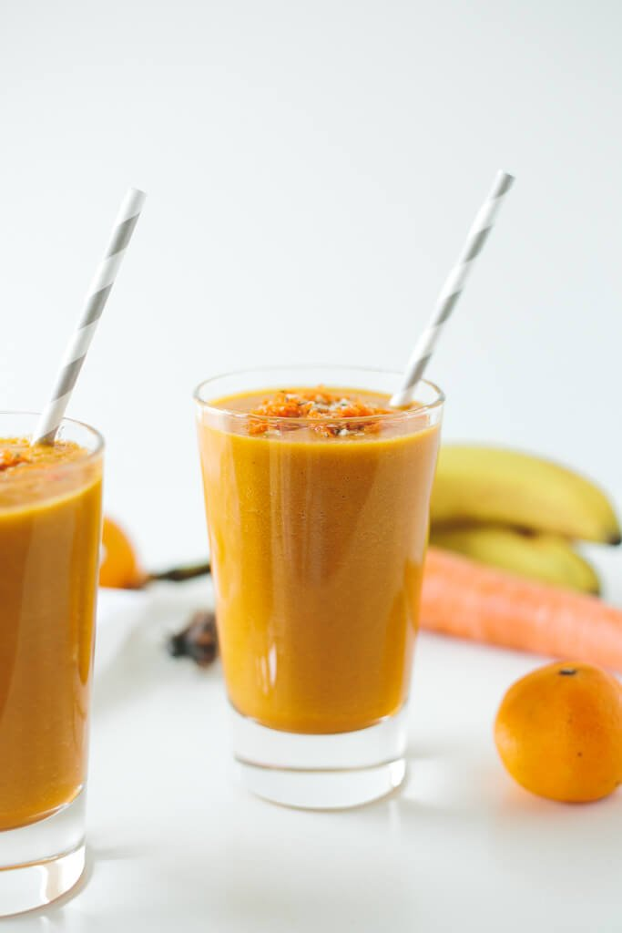 Golden Beet, Carrot and Turmeric Smoothie. A sweet, antioxidant and nutrient-packed smoothie with disease-fighting turmeric.