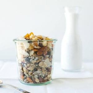 (gluten-free, paleo) Pair this macadamia muesli with your favorite dairy-free milk for an easy and healthy breakfast.
