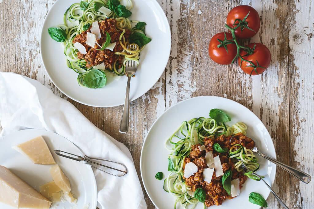 Zucchini Noodle Bolognese