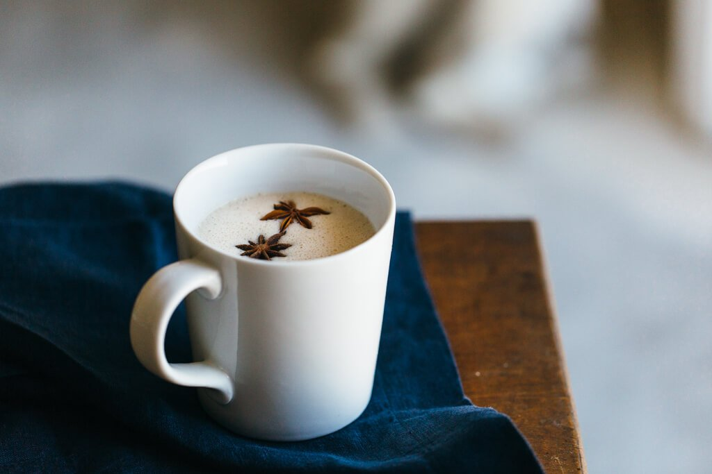 Chai spiced coconut milk.