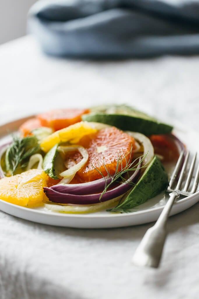 Fennel, Avocado And Grapefruit Salad With Orange ...