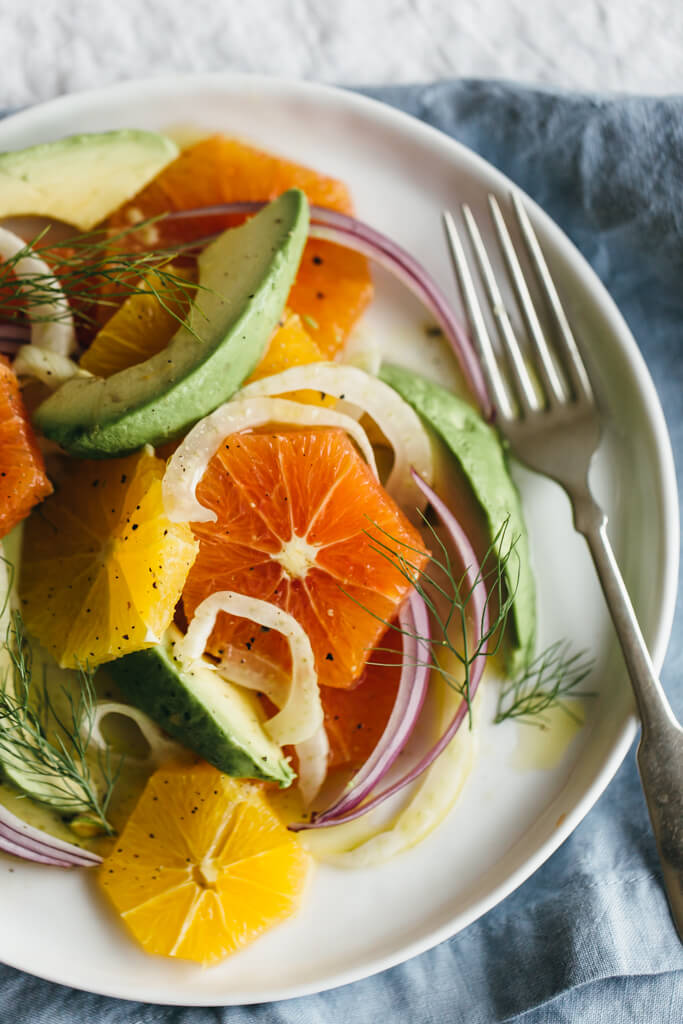 Fennel, Blood Orange, And Avocado Salad Recipe — Dishmaps