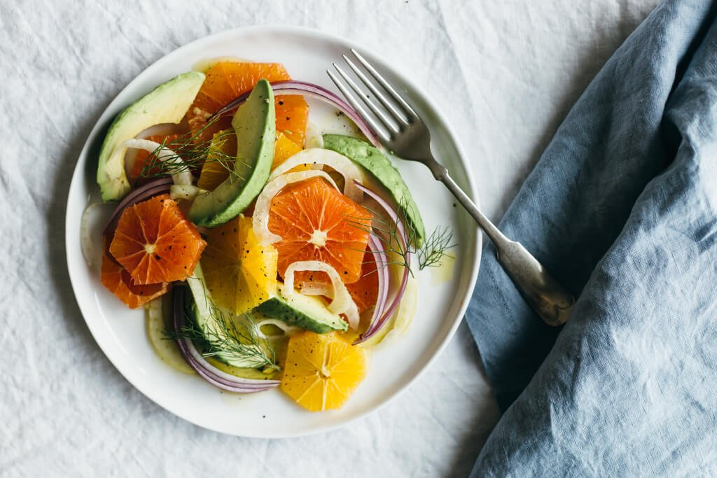 Fennel, Avocado And Grapefruit Salad With Orange Vinaigrette Recipes ...