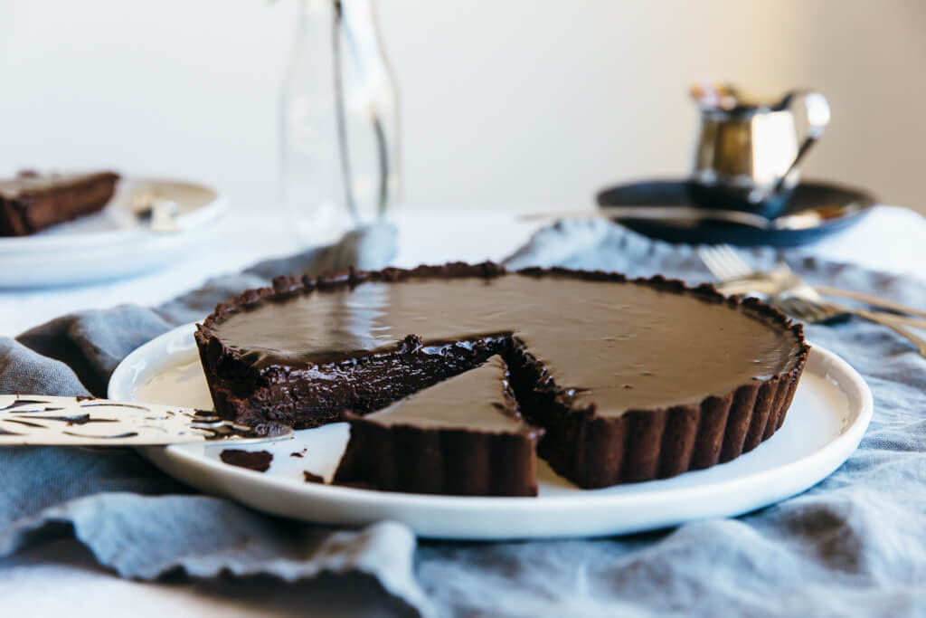 ... and decadent chocolate truffle tart - the perfect chocolate dessert