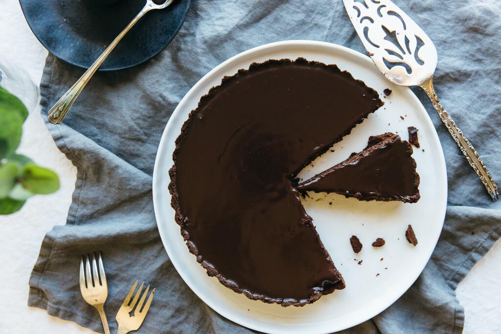Chocolate Truffle Tart. A decadent dessert that's gluten-free, dairy ...