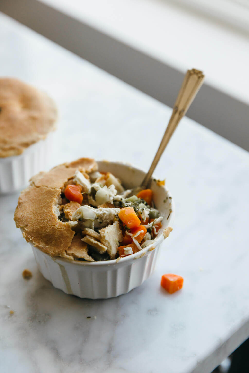 Mini chicken pot pies. Gluten-free, dairy-free, paleo.