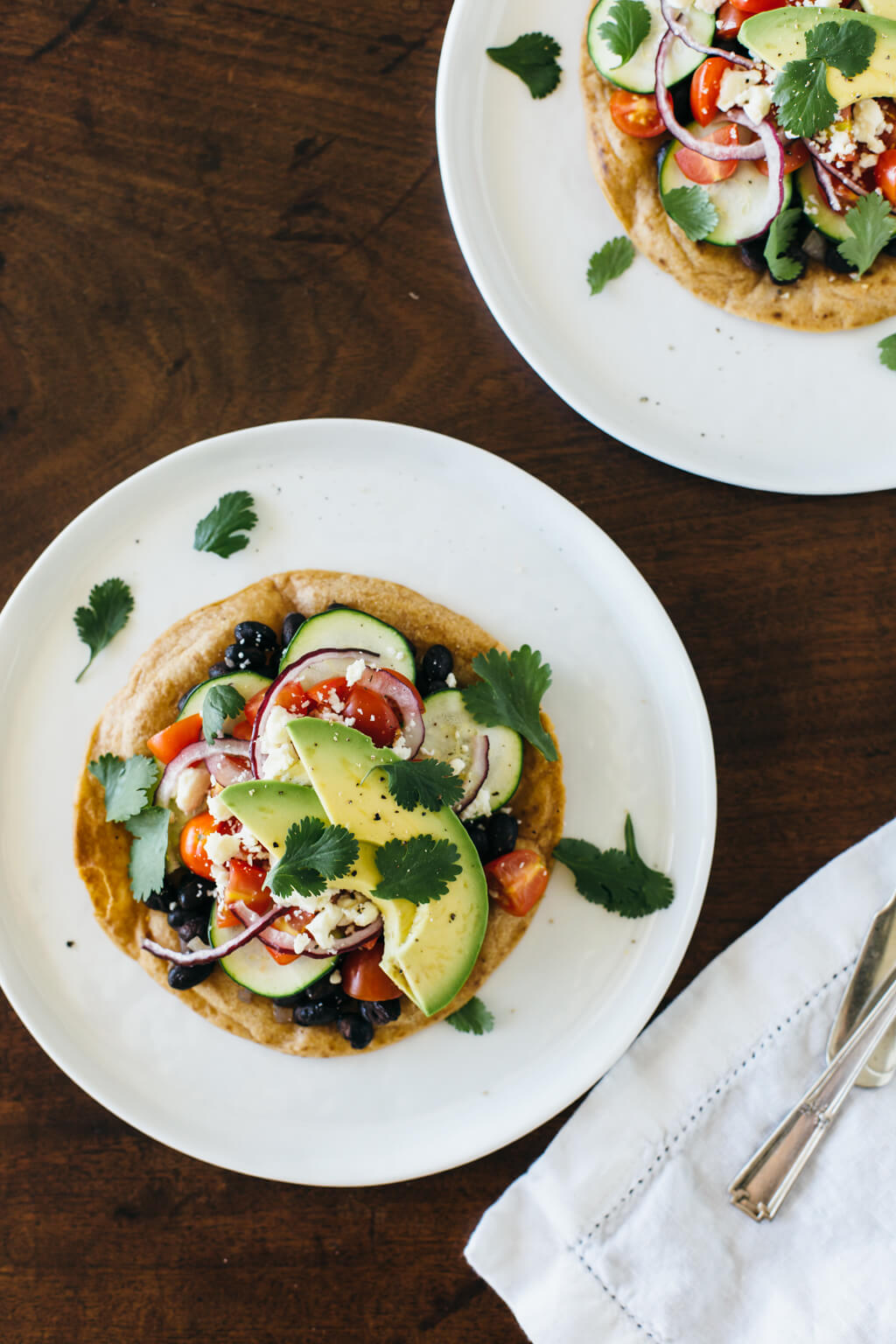 A healthy, vegetarian Mexican pizza that's loaded with fresh ingredients and topped on gluten-free, cassava flour tortillas. A tasty version you'll love!