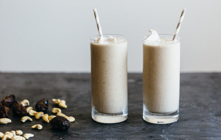 (dairy-free, vegan, paleo) Cashew Date Shake. Inspired by the classic date shakes from Palm Springs, California.