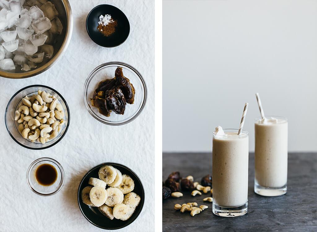 Cashew Date Shake. Dairy-free, vegan and paleo.