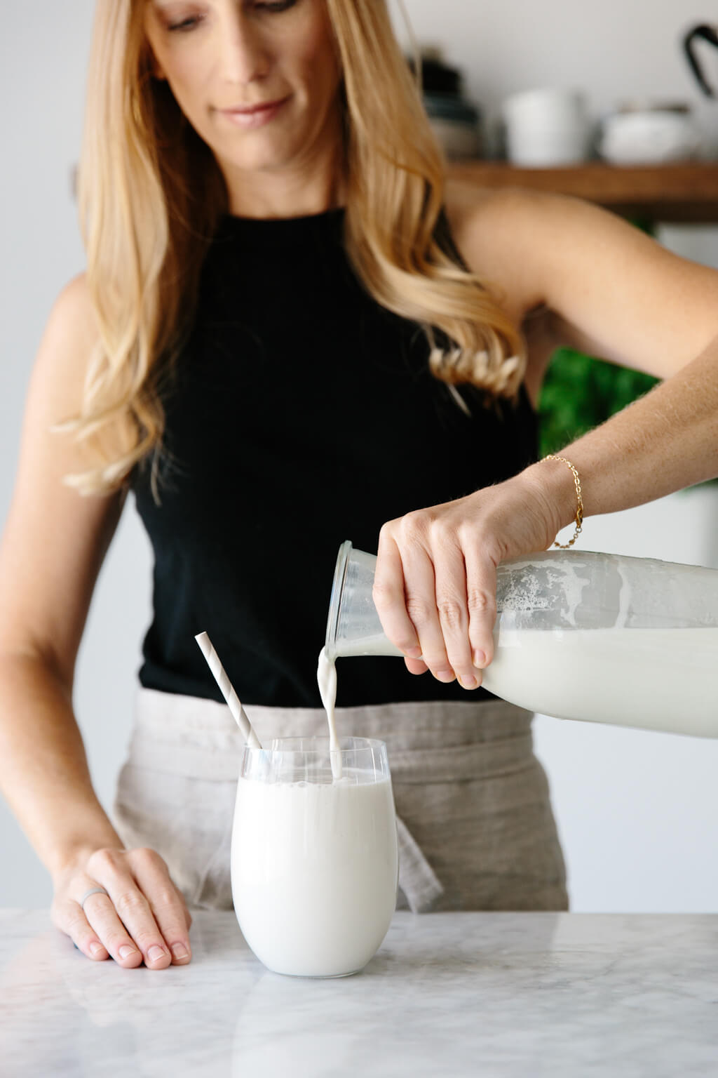 (dairy-free, vegan) Homemade cashew milk is a delicious and creamy nut milk. And unlike almond milk, it doesn't have to be strained, which makes it even easier!
