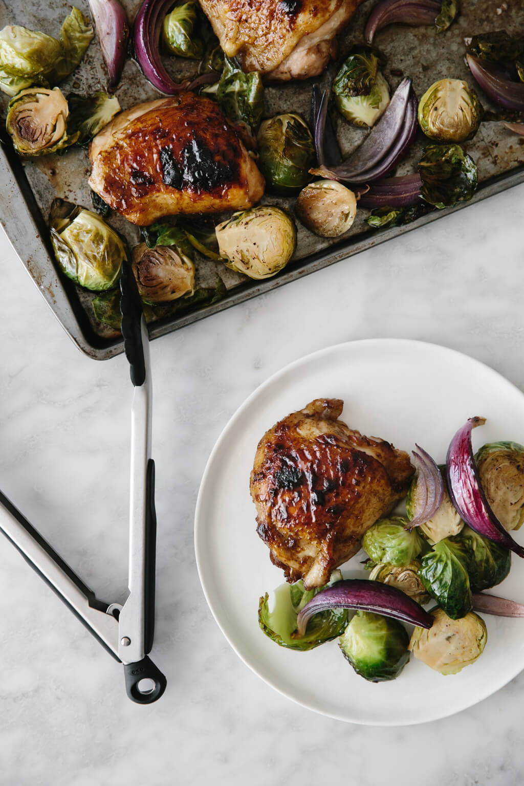 Roasted Balsamic Chicken With Brussels Sprouts