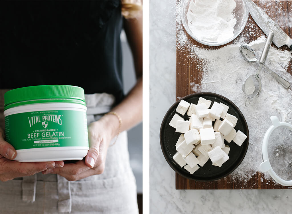 How to make homemade marshmallows // These healthy, paleo-friendly marshmallows use honey or maple syrup instead of corn syrup and high-quality gelatin.