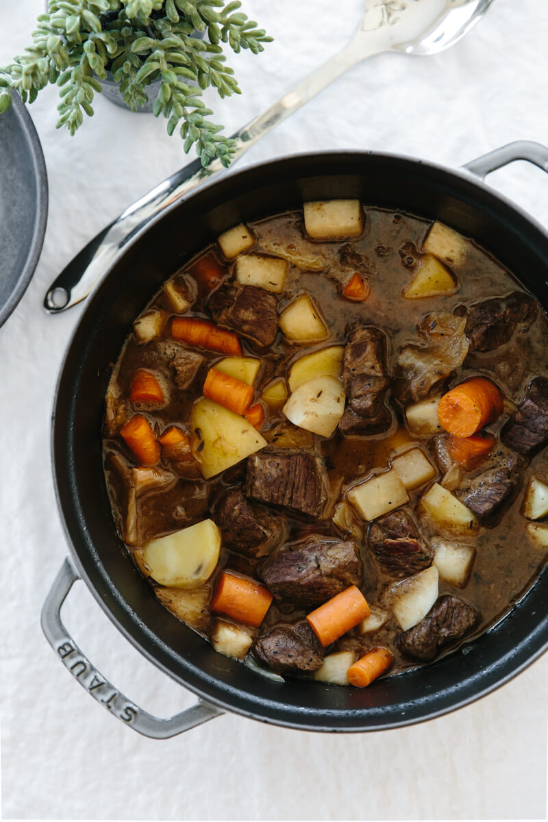 (gluten-free, paleo) This traditional Irish lamb stew is flavorful, hearty and nourishing. A perfect healthy dinner for fall or winter.