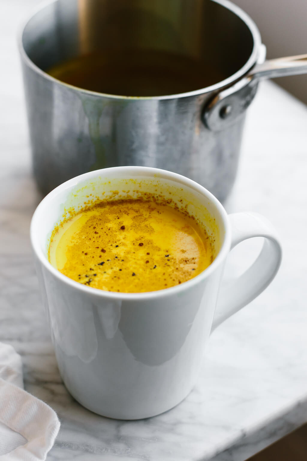 Golden Milk (Turmeric Milk) is tops on the list for a healthy, healing drink. It dairy-free and has potent anti-inflammatory benefits.
