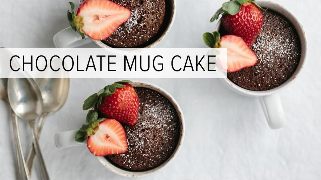 Chocolate Mug Cake (gluten-free, paleo) | Downshiftology