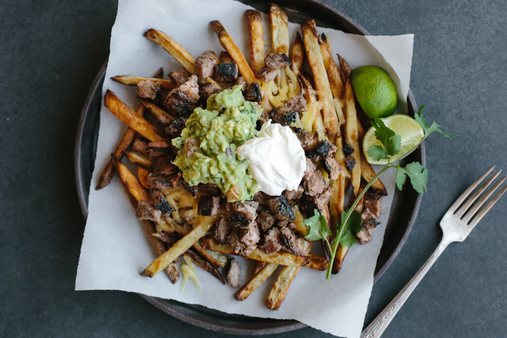 Carne asada fries are a San Diego classic and naturally gluten-free. A ...
