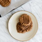 (gluten-free, paleo) These flourless almond butter cookies are tasty and super simple to make!