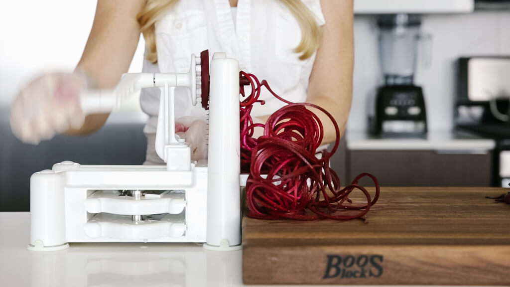 The spiralizer is one of my favorite kitchen tools. So today I'm sharing my favorite vegetables to spiralize along with veggie spiralizer tips and recipes. Learn how to spiralize beet.
