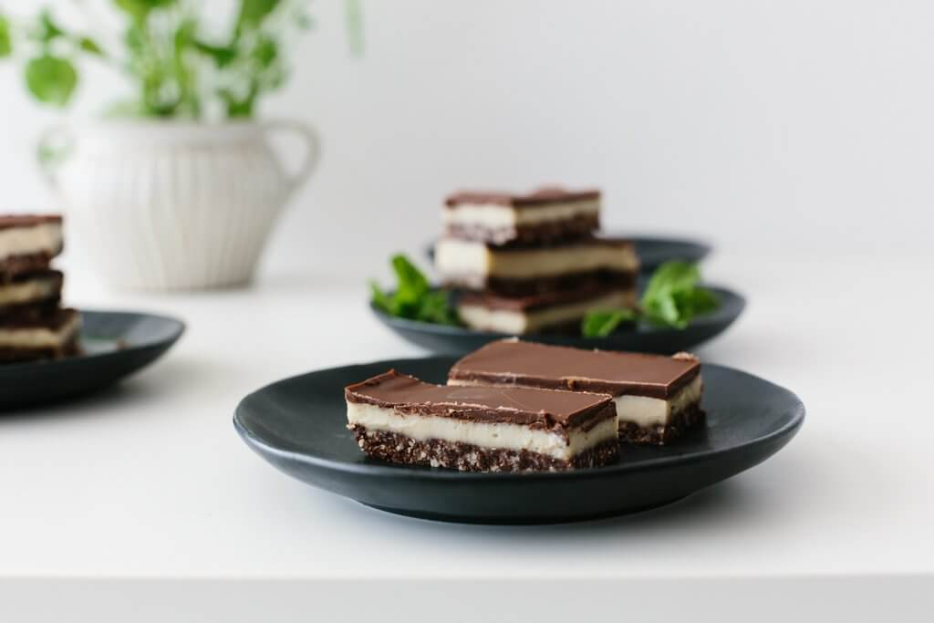 Chocolate Peppermint Slice (gluten-free, vegan)
