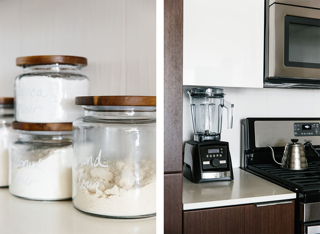 My kitchen is a blend of cozy minimalist, warm modern, Scandinavian and SoCal design. Here are 8 tips to help you clean, declutter and embrace a little minimalism.