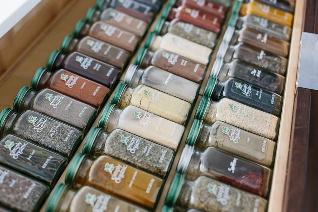 Spice Drawer Organization & Tips for Healthy Recipes
