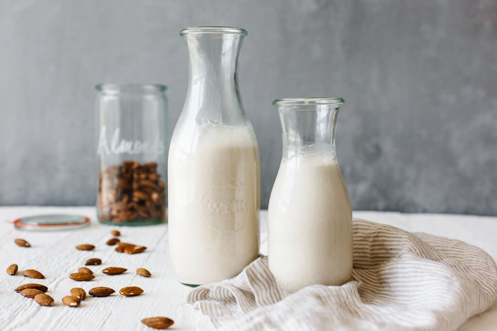 Almond milk is a great dairy-free nut milk and it's incredibly easy to make at home. It's healthier than many store-bought options and all you need are almonds, water and a blender.