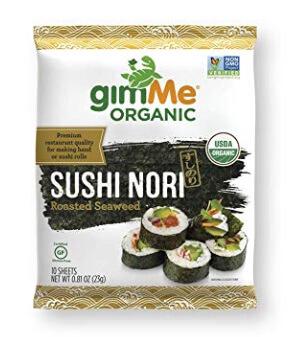 Whole30 Snacks: GimMe Organic Sushi Nori Sheets