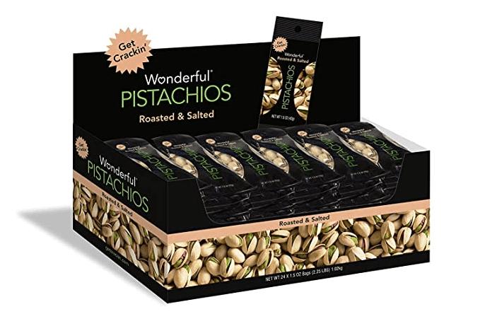 Whole30 snacks - pistachios.
