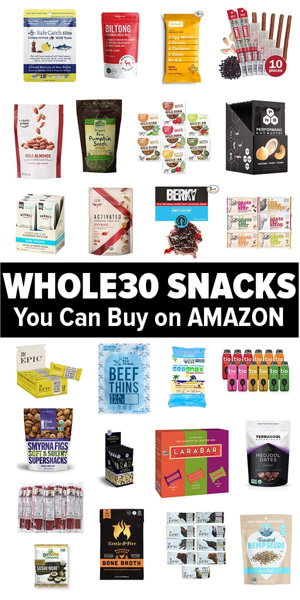 Whole30 snacks you can buy on Amazon. The best Whole30 Snacks for on the go, work and travel.