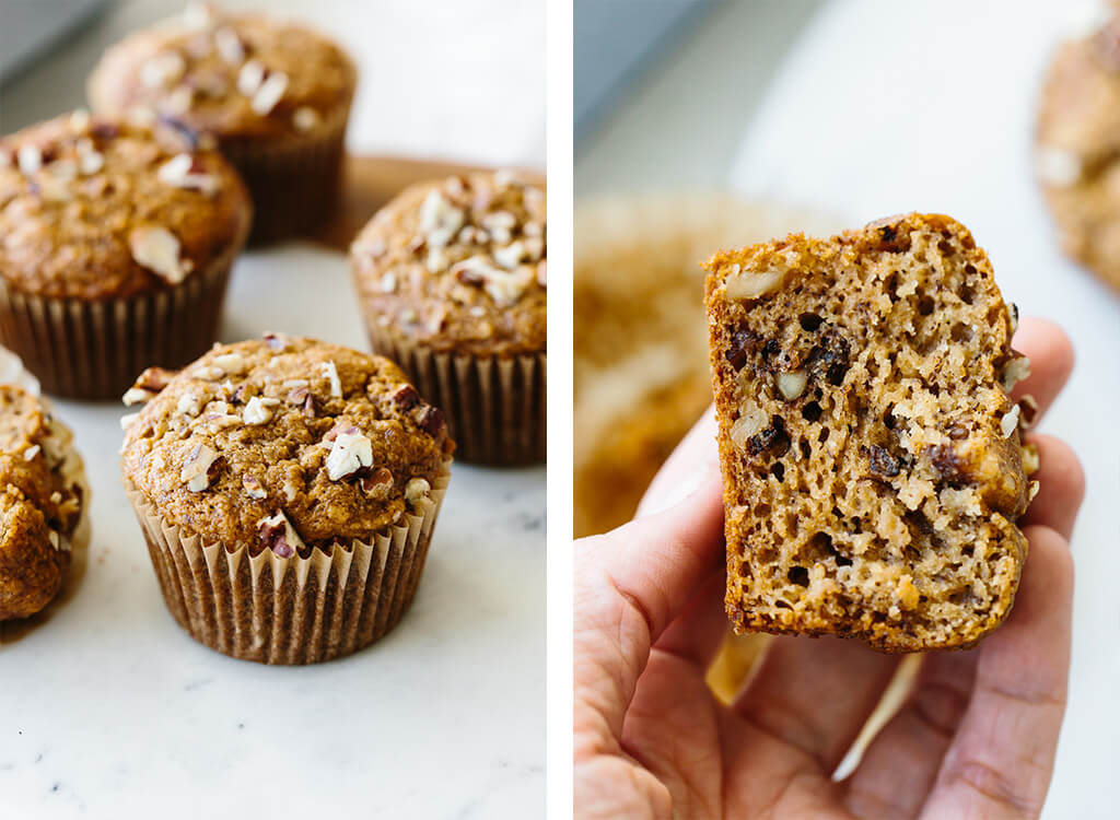 Paleo banana muffins with nuts