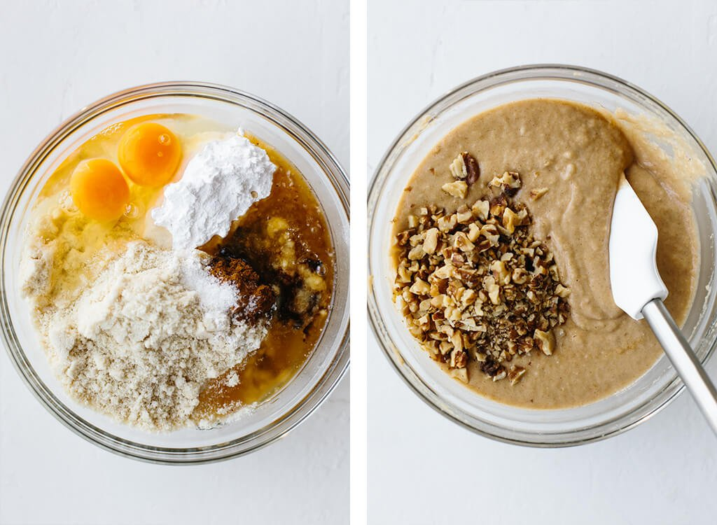 Paleo banana muffins ingredients