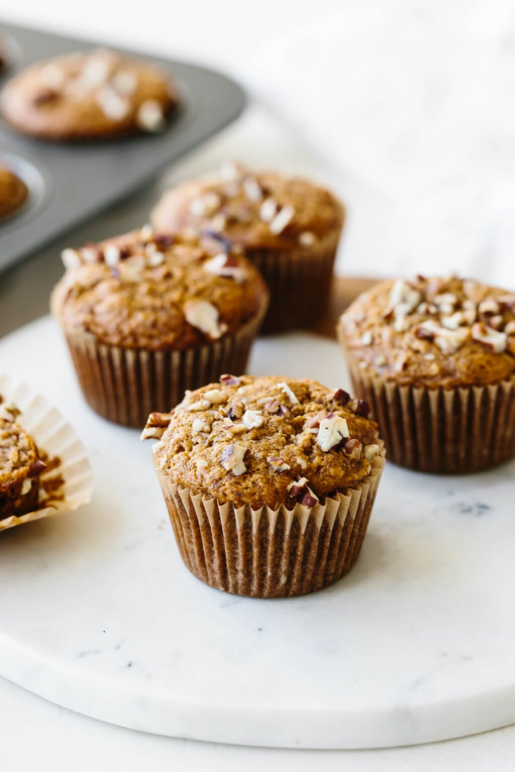 Paleo banana nut muffins are easy to make, delicious and gluten-free and dairy-free. The perfect healthy breakfast recipe and snack!