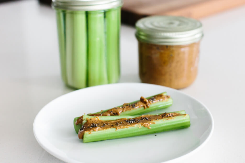 celery almond butter chia seed whole30 recipe