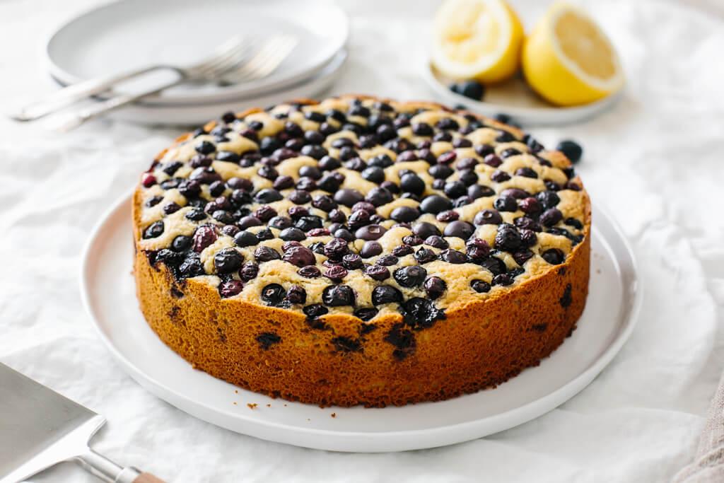 Coconut Flour Blueberry Cake