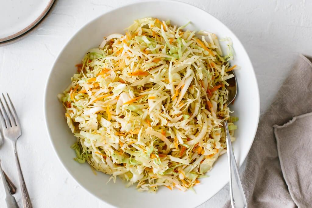 Vinegar Coleslaw Recipe No Mayo Coleslaw Downshiftology