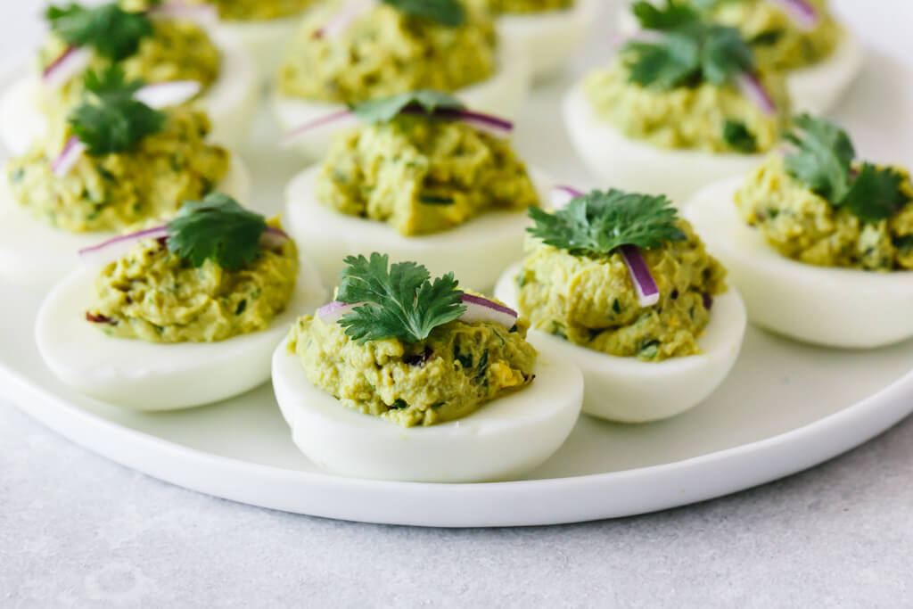 Avocado Deviled Eggs Downshiftology